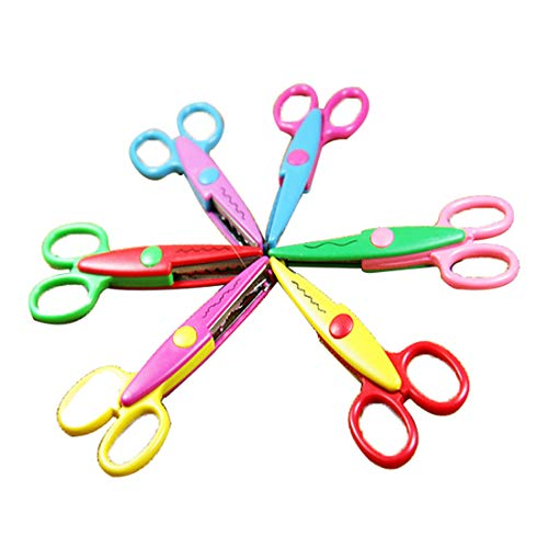 Topsame 6pcs Decorative Wave Lace Edge Craft Stationery Photos Photograph Scissors DIY For Kids Scrapbook Handmade Artwork (Edge Stationery)