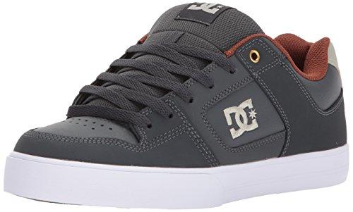 DC Men's Pure Action Skate Shoe, Dark Shadow, 12 D D US (Shadow Dark Apparel)