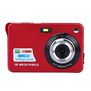 "Mini Digital Camera, 1080P HD 2.7"" LCD Screen 8X Digital Zoom 18MP 30fps Video Camera for Kids Children Gift(Red)"