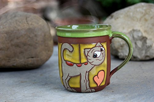 Cat Mug, Funny Cup, Coffee cup, Tea Cup, Ceramic Mug, Mug with animal, Cup for kids