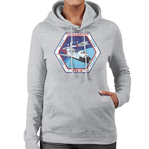 NASA STS 6 Space Shuttle Challenger Mission Patch Women's Hooded Sweatshirt