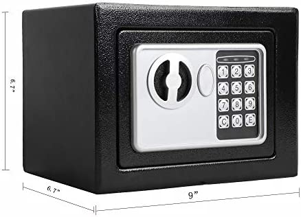 Electronic Security Safe Box Wall-in Style Electronic Code Metal Steel Box Safe Case for Home Office Hotel Business Lock Box for Cash Jewelry Storage