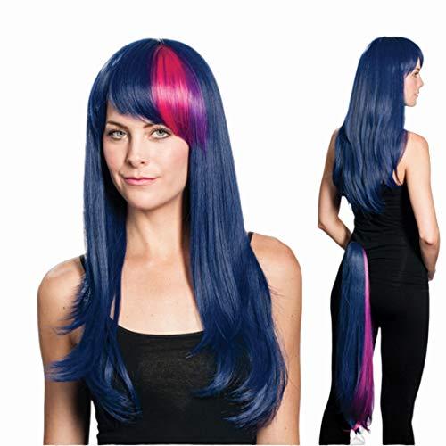 Twilight Sparkle Wig Tail Set Color Twilight Blue - Enigma Wigs My Little Pony Twilite Spark Friendship Brony Bundle Costume Wig Care Guide