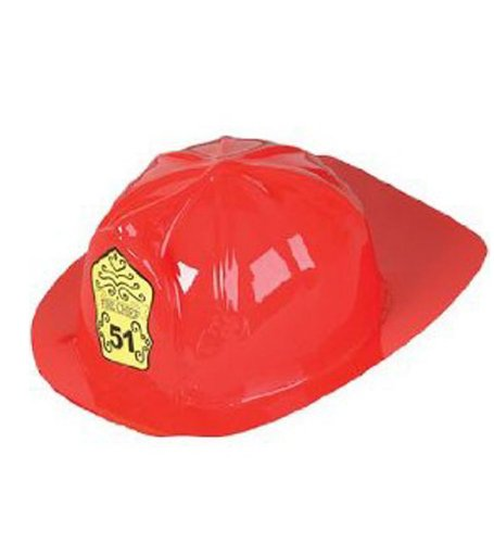 Fireman Hat - Adult Red Fire Man Hat With Logo by Funny Party Hats (Sexy Firewoman Costume)