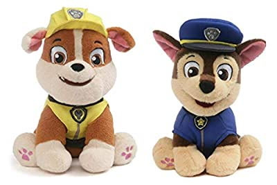 GUND Paw Patrol Plush Bundle of 2, 9 inch Chase and Rubble