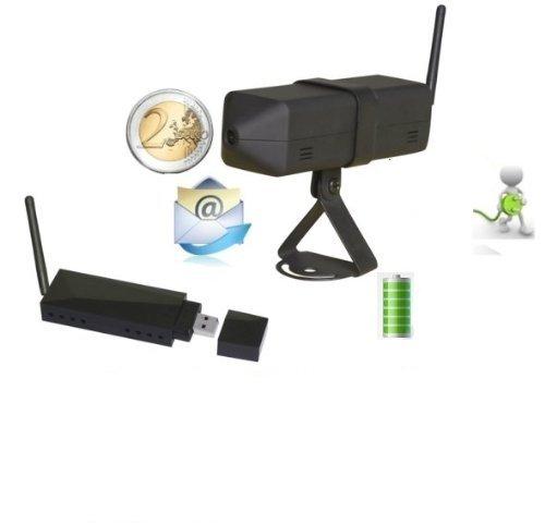 4 opinioni per Sistema di Videosorveglianza Wireless Mini Telecamera a Batteria + Ricevitore