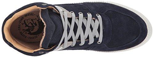 Diesel Heren V S-spaark Mid Sneaker Middeleeuws Blauw / Zwart / Duif