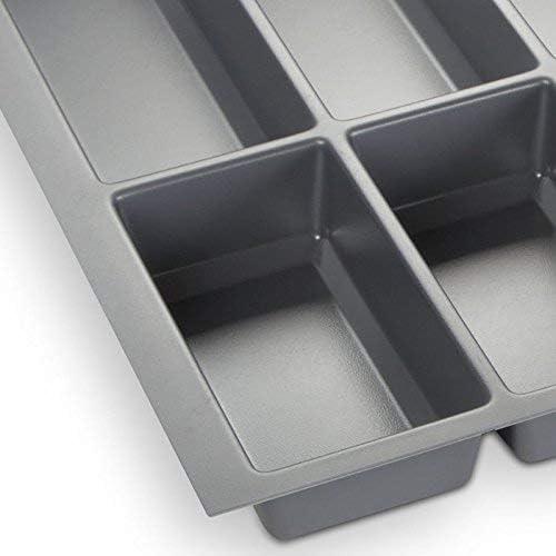 Besteckkasten III 473,5 x 344 mm Nobilia ab 2013 Orga-Box Besteckeinsatz Silbergrau f/ür 45er Schublade z.B