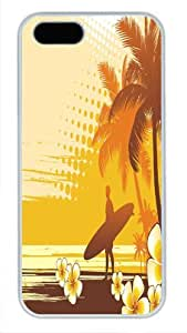 Good Pattern For SamSung Galaxy S5 Mini Phone Case Cover White Pc Case - Nice Surfing - Standing Under The Cocounut Tree