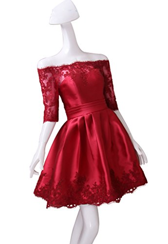 Dresses Color for e Pink COLOREDRESS Sleeves Dress Lace Prom Women 2017 Evening Short a8q8znUgxW