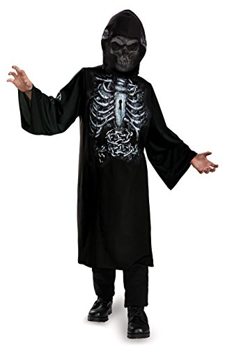 Disguise 74296G Reaper Hooded Print Robe - Child Costume, Large (Very Scary Halloween Costumes)