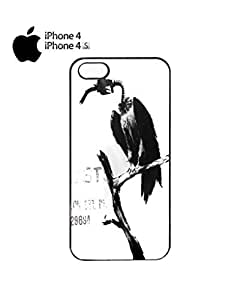 Banksy Petrol Gas Pump Head Vulture Dungeness Cell Phone Case Cover iPhone 4&4s Black