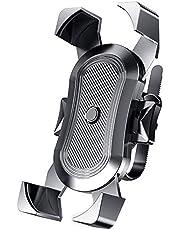 Universele mobiele telefoonhouder voor op de fiets voor 4,6-6,8 inch smartphone, telefoonhouder voor fiets met 360 graden draaibaar, afneembare houder voor mobiele telefoon en motorfiets