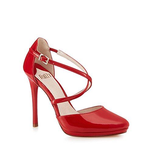 Faith - Zapatos de vestir para mujer rojo Red Talla única