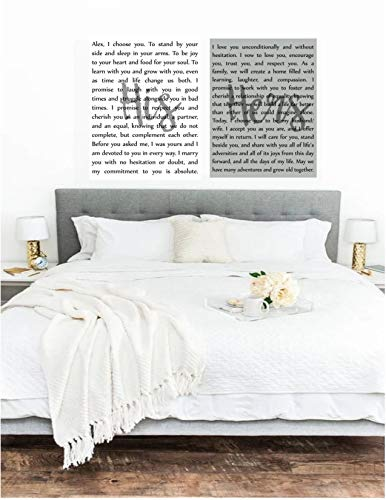 Wedding Vow Art - His and Hers Canvases, Custom Wedding Vows Canvas Art, His & Her ()