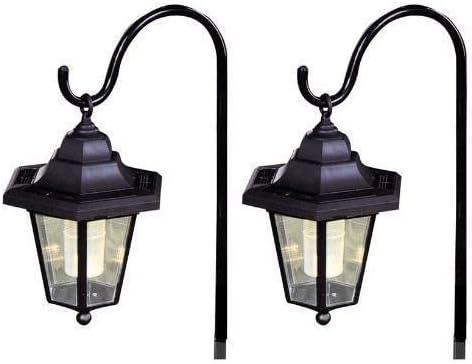 Juego de 2 faroles solares led, linterna de jardín colgante, para exterior. De Unibos.: Amazon.es: Iluminación