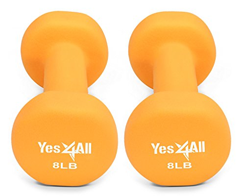 Neoprene dumbbells set of 1-pair: 8 lbs (16 lbs total) - ²DSAXZ