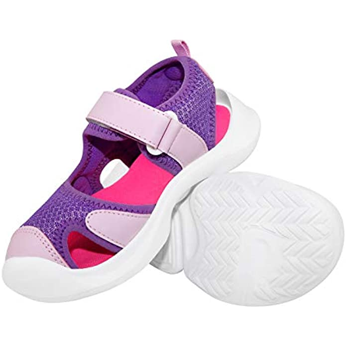 V.Step Kids Sandals, Bump Toe Sandals for Girls Boys Toddler, Lightweight Outdoor Shoes with Breathable Mesh Waterproof Sole