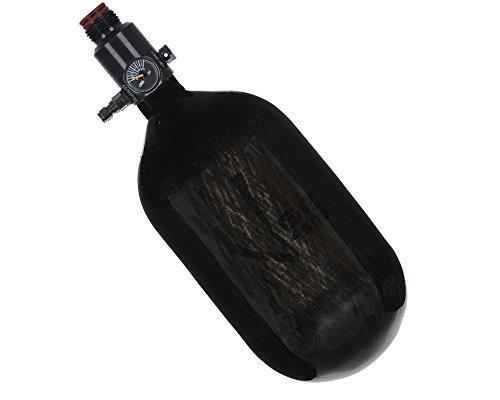 Ninja Paintball Compressed HPA Air Tank w/ Ultralite Regulator (ALL COLORS / SIZES) (68/4500 Carbon, Ultralite Reg, Translucent Black, 68ci)