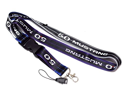 Ford Mustang GT 5.0 Lanyard Neck Strap Quick Release Keychain Racing New