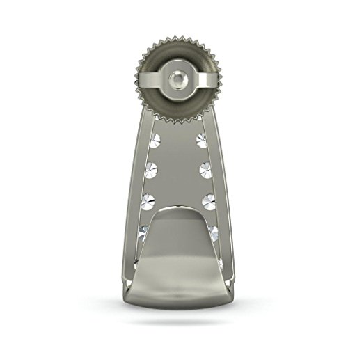 18K Or Blanc 0,59CT TW Round-cut-diamond (IJ | SI) Boucles d'oreilles créoles