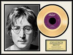 Photo File John Lennon Imagine Framed Gold Record
