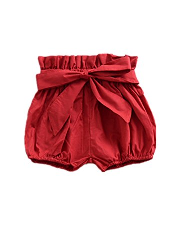 - AYIYO Baby Infant Toddler Girls Bowknot Ruffle Bloomers Shorts (80(6-12Months)(for Height:27.6