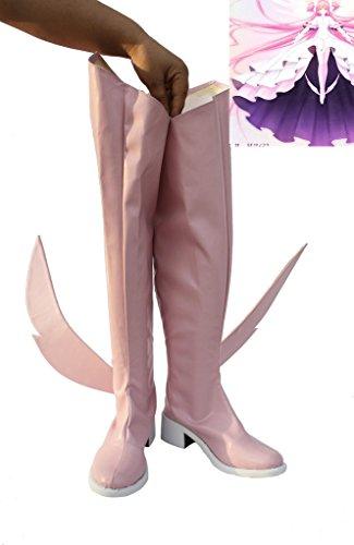 Puella Magi Madoka Magica Scarpe Cosplay Stivali Su Misura Rosa