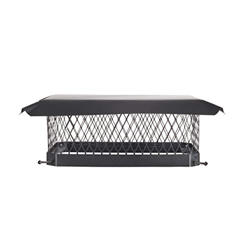 Great Deal! HY-C SC1318 Shelter Bolt On Single Flue Chimney Cover, Mesh Size 3/4, Fits Outside Exis...