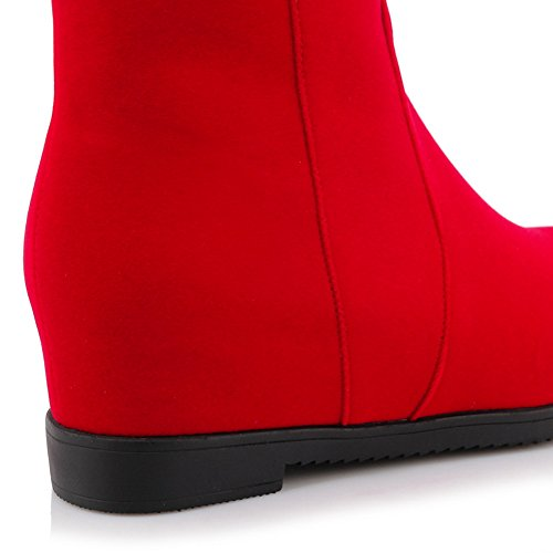 A&N Girls Heighten Inside Metal Ornament Round Toe Frosted Boots Red aYUTFthIz