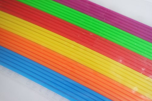 3D Pen 3mm ABS filament Refills, pack of 30 strands/filaments of 10inch ABS plastic, 6 different colors.