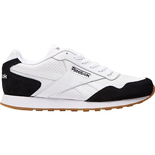 Reebok Men's CL Harman Run Sneaker, Us-Black/White/White/Gum, 13 M US - Reebok Suede