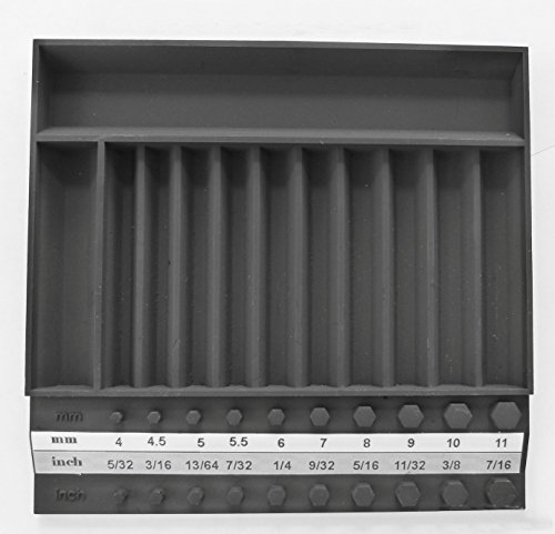 Tool Sorter Small Socket Organizer black metric and SAE Made in the USA