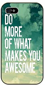 iPhone 6 Do more of what makes you awesome - Sky and clouds - black plastic case / Life, dreamer's inspirational and motivational quotes