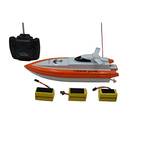 Blomiky F1 11.5 Inch High Speed RC Boat for Pool and Lake Extra 2 Battery 800 Orange