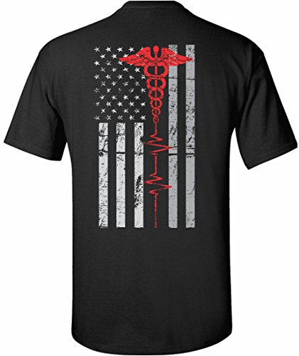1e812719 Patriot Apparel Nurses Thin Red Line EMT First Responder Paramedic Nurse  Men's Unisex Mens Fit T