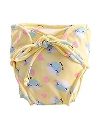 [Dolphin] Adjustable Infant Swim Diaper with Ties, Size Medium