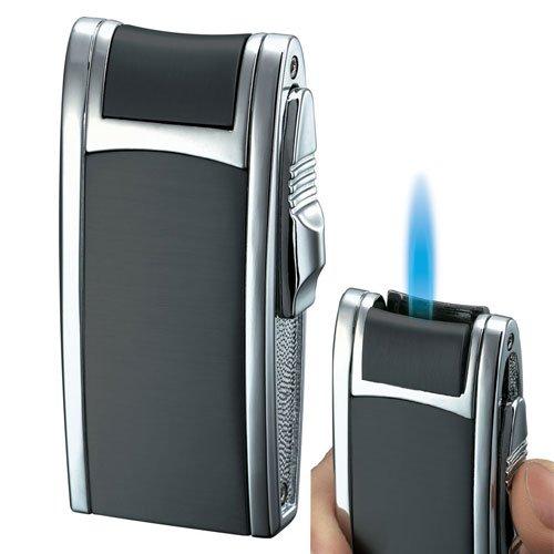 Single Flame Lighter (Visol Cole Black Matte Single Jet Flame Cigar)