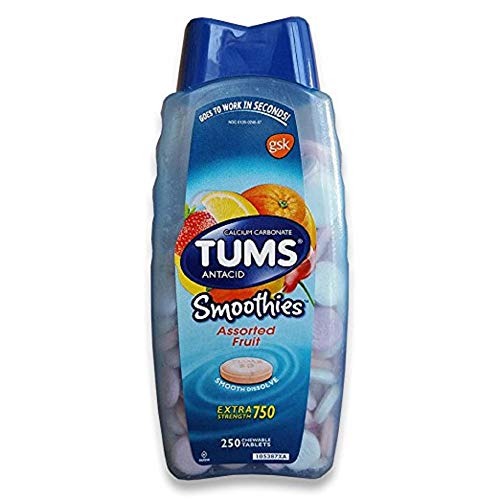 TUMS Extra Strength Smoothies, 250 Chewable -