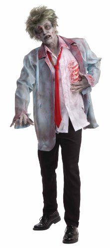 Mens Halloween Ideas (Men's Zombie Man Costume, Multi-Colored, One Size)