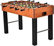 HOMCOM 48'' Wooden Foosball Table Soccer Game Heavy Duty for Arcades, Pub, Game Room,8 Rods