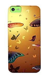 High Quality Tpu Case/ Butterflies Qzyqbg-2072-trzhiip Case Cover For Iphone 5c For New Year's Day's Gift
