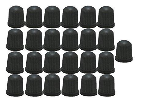 ABN Gray TPMS Plastic Sealing Valve Cap 25 Pack