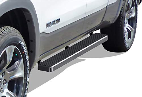 APS iBoard Running Boards (Nerf Bars | Side Steps | Step Bars) for 2019-2020 Dodge Ram 1500 Quad Cab Pickup 4-Door for New Body Style ONLY (Will Not Fit 2018 Model Build in 2019) | (Silver 5 inches) ()