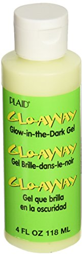 Plaid Glo-Away Washable Acrylic Paint (4-Ounce), 1355200 Glow-in-the-Dark