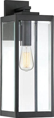 Quoizel WVR8407EK Westover Modern Industrial Outdoor Wall Sconce Lighting, 1-Light, 150 Watt, Earth Black (20