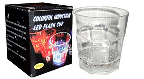 Dressffe LED Light Up Glasses,Flashing Cups LED Liquid Activated for Bar Night Club Party Drink Halloween Christmas Wedding Party Decoration -
