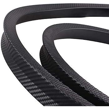 45mm DIYARTS Car Wheel Fender Universal Auto Arch Guard Flexible Extension Wheel Eyebrow Trim Rubber Protector Black