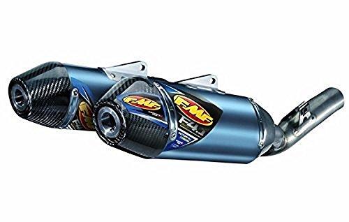 FMF 14-17 Honda CRF250R Factory 4.1 RCT Slip-On Exhaust - Dual (Blue Anodized Titanium with Carbon Fiber End Caps)