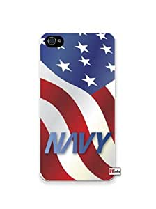 diy phone caseUS Navy American Flag United States iPhone 4 Quality Hard Snap On Case for iPhone 4 4S 4G - AT&T Sprint Verizon - White Case Coverdiy phone case